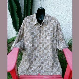 Puritan Hawaiian Button Front Shirt Men's Size 3X